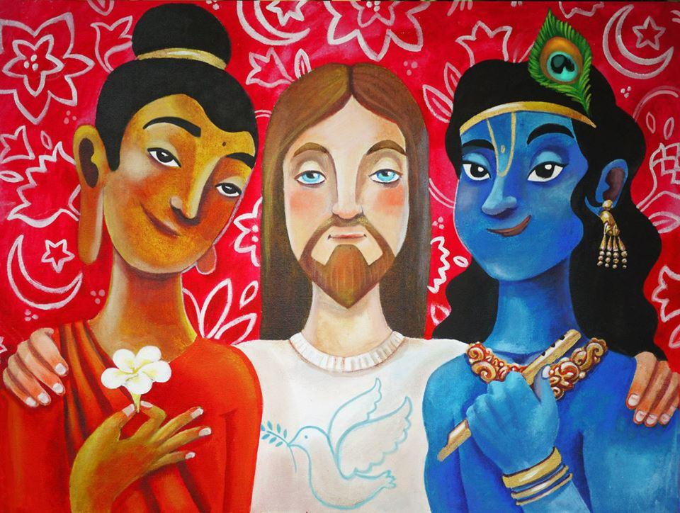 Будда, Иисус и Кришна