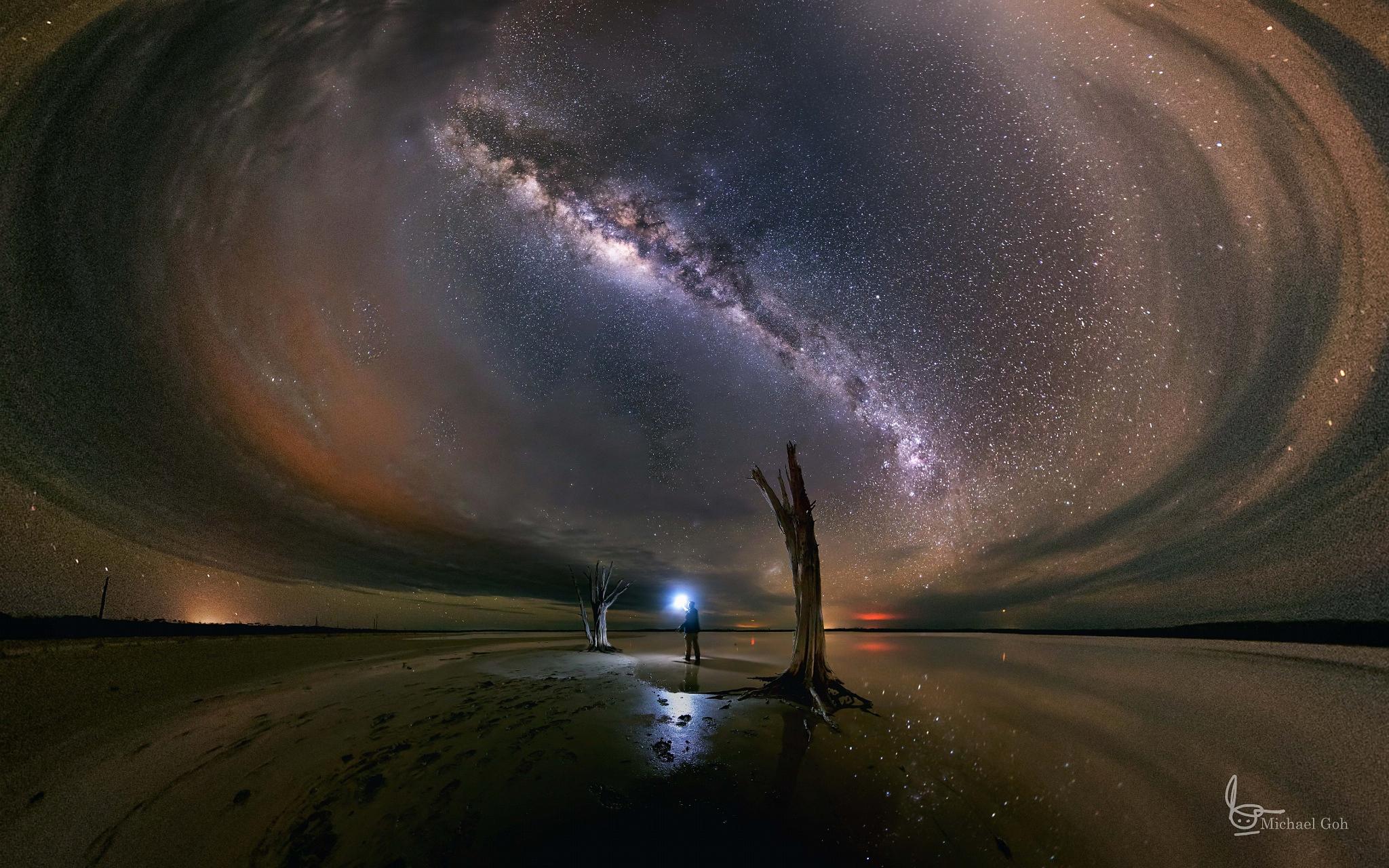 человек и звездное небо