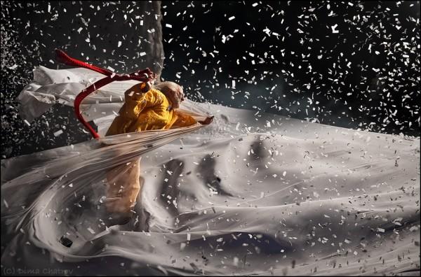 Снежное шоу Славы Полунина. Фото: Дмитрий Шатров